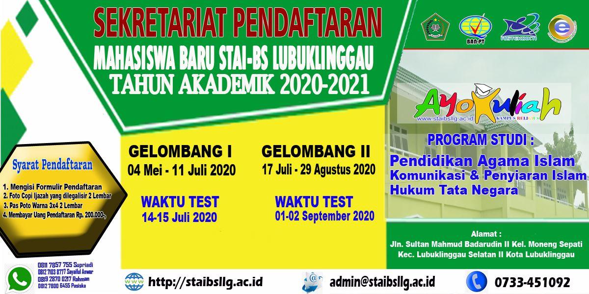 Penerimaan Mahasiswa Baru Tahun Akademik 2020 2021